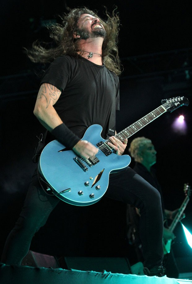 Dave Grohl, do Foo Fighters (Foto: AgNes / Wallace Barbosa)