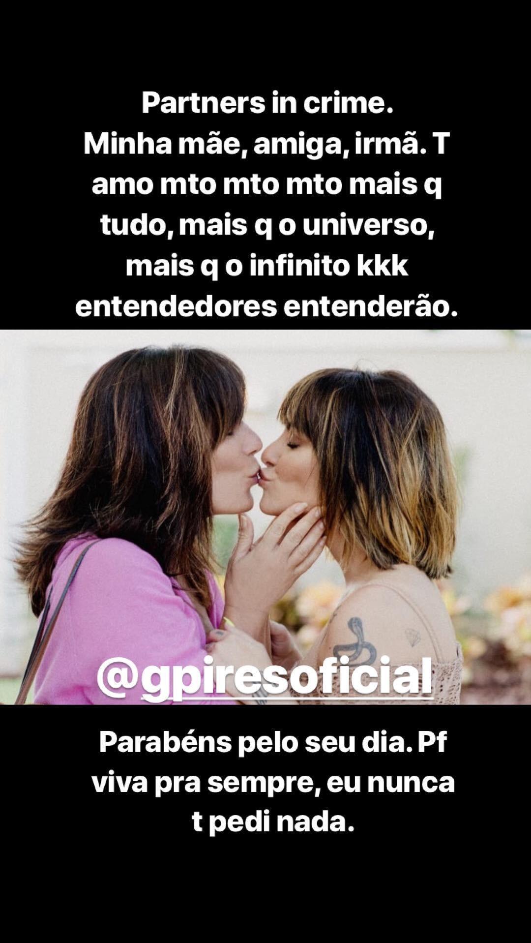Cleo e Glória Pires (Foto: Reprodução / Instagram)