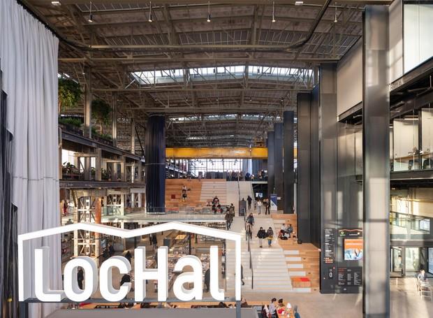 """O nome LocHall surgiu como abreviação da antiga função do pavilhão, sendo uma abreviatura para """"Locomotiva Hall"""" (Foto: Ossip Architectuurfotografie/ Arch Daily/ Reprodução)"""