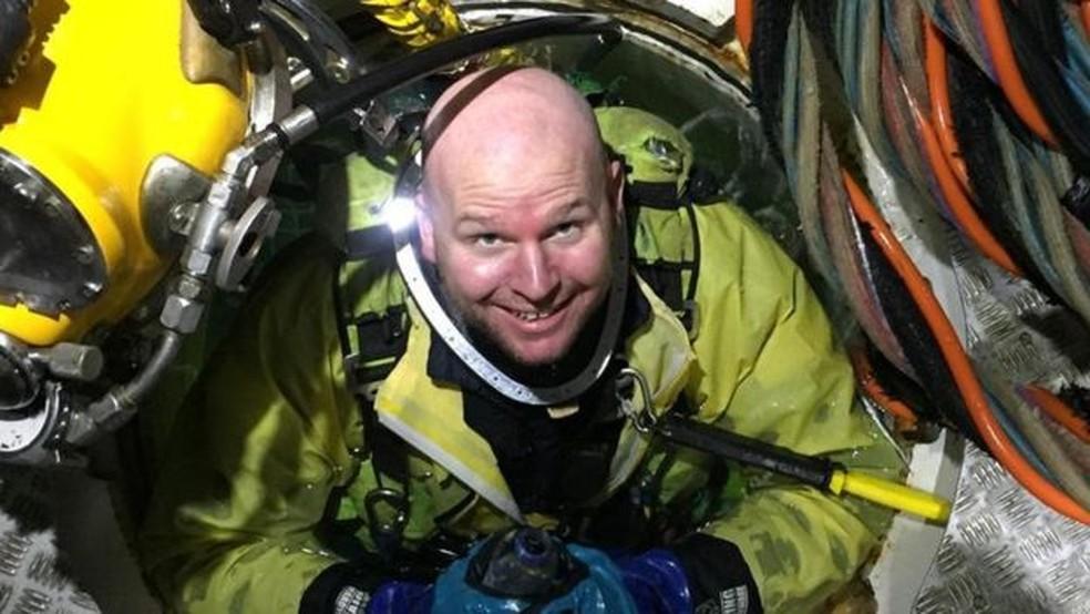 Chris Lemons já fazia mergulho de saturação havia um ano e meio na época do acidente — Foto: Chris Lemons