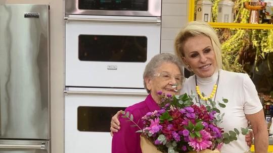 Vovó Palmirinha e Ana Maria Braga: veja bastidores do reencontro no 'Mais Você'