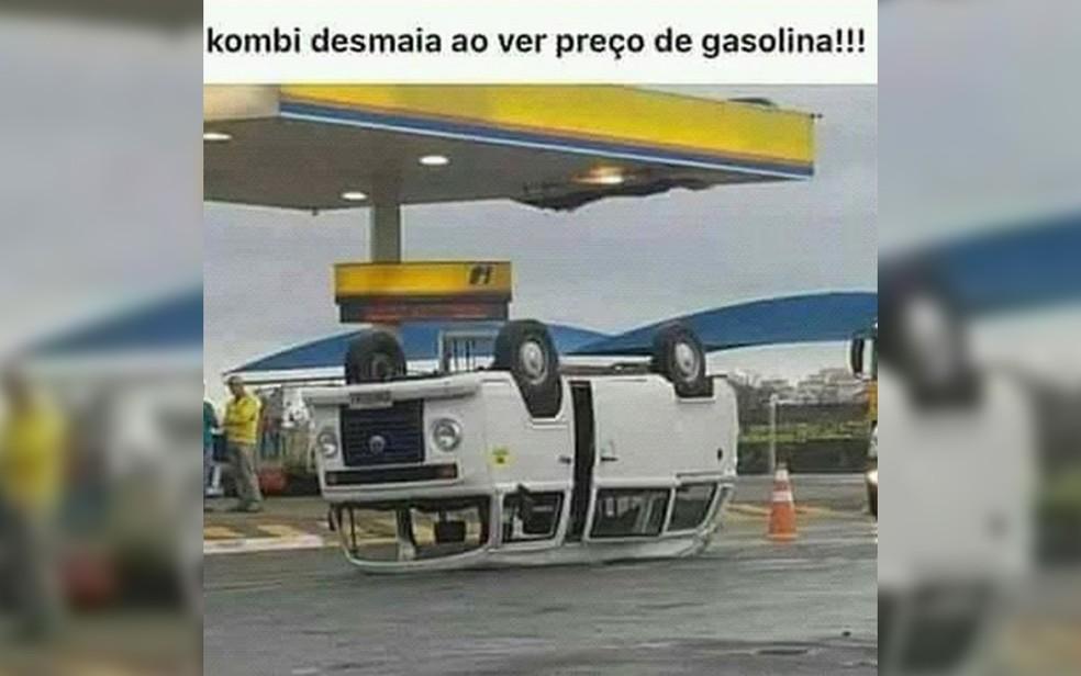 Meme sobre preço de combustíveis (Foto: Reprodução/Redes Sociais)