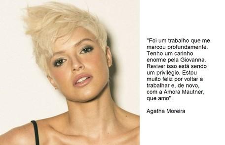 Agatha Moreira retorna no papel de Giovanna  Reprodução