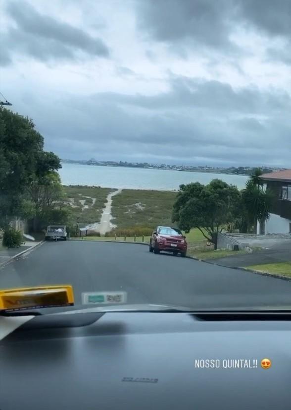 Vista da casa de José de Abreu na Nova Zelândia (Foto: Reprodução)