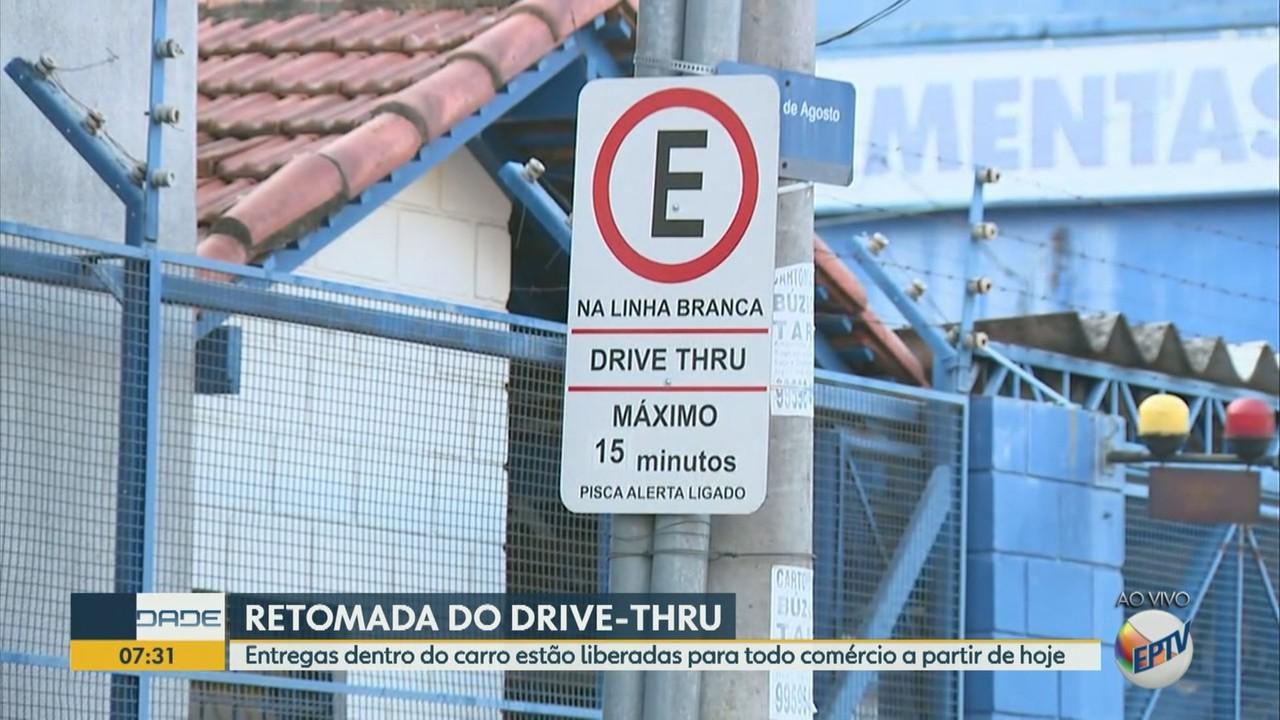 Comércio de Campinas retoma serviço de drive-thru a partir desta quarta-feira