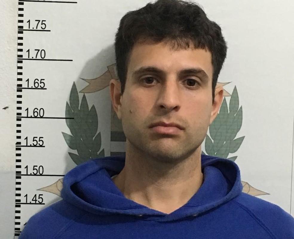Leandro foi preso em flagrante por pedofilia em Santos, SP (Foto: Divulgação/Polícia Civil)