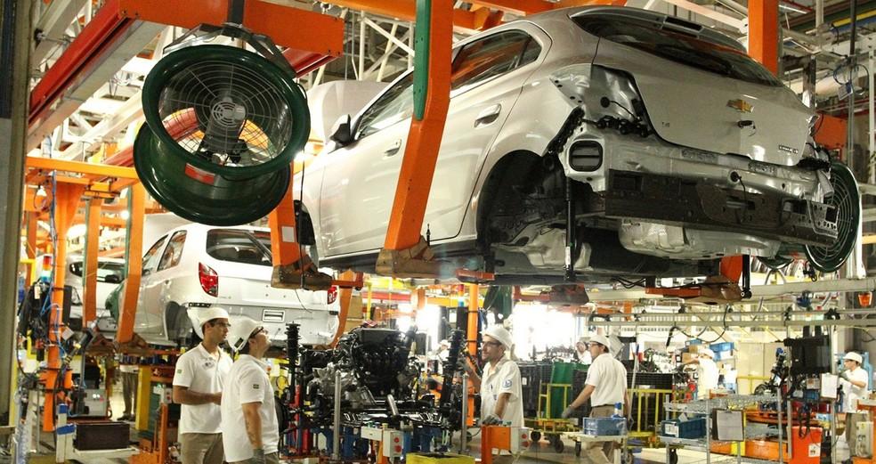 Fábrica da Chevrolet em Gravataí, RS — Foto: Divulgação