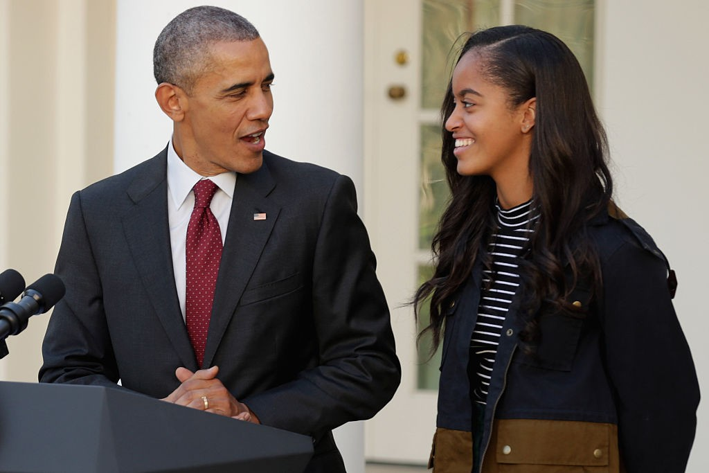 Barack e Malia Obama  (Foto: Getty Images)