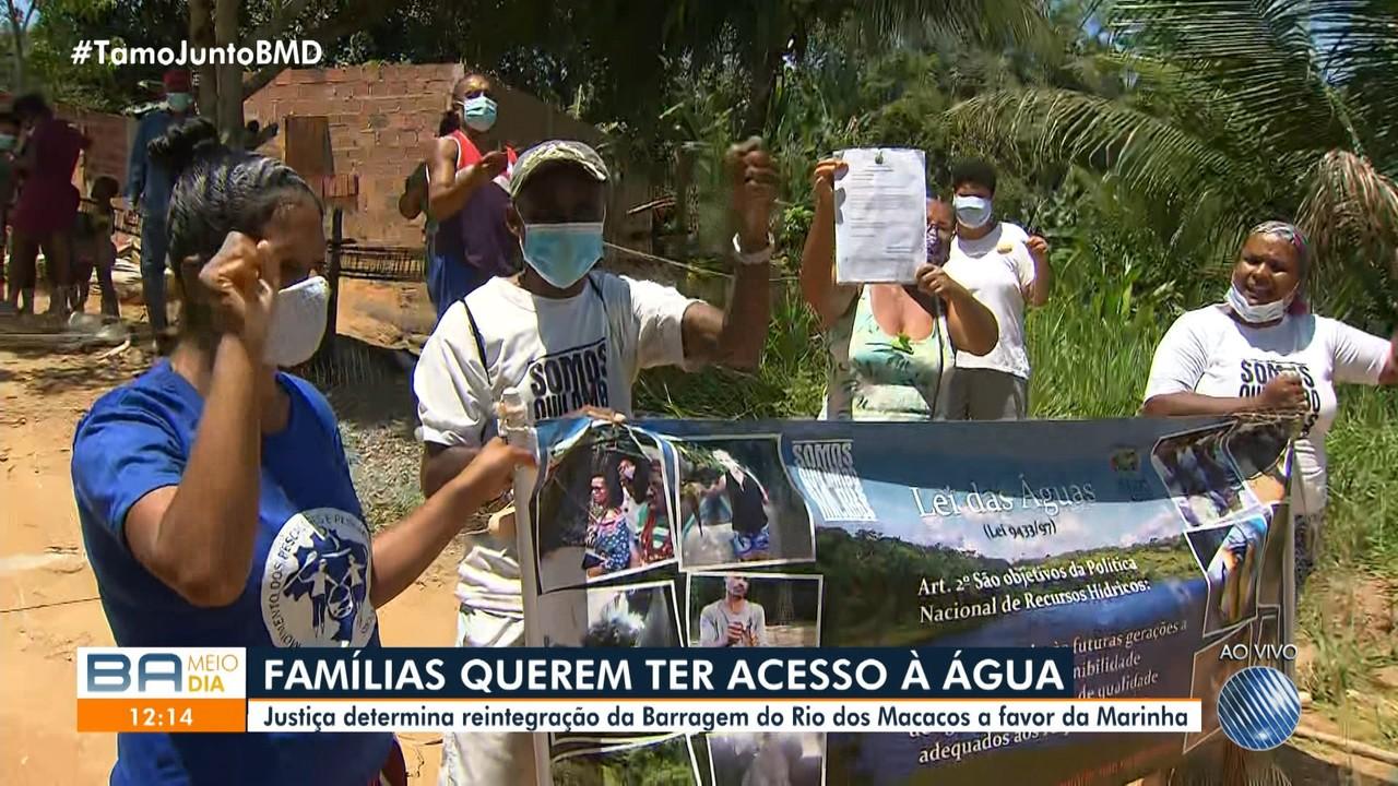 Moradores do quliombo Rio dos Macacos protestam contra decisão que favorece a Marinha