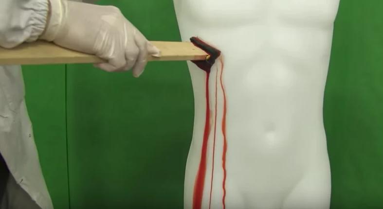 Estudos para analisar a disposição do sangue no tecido (Foto: Reprodução/YouTube)