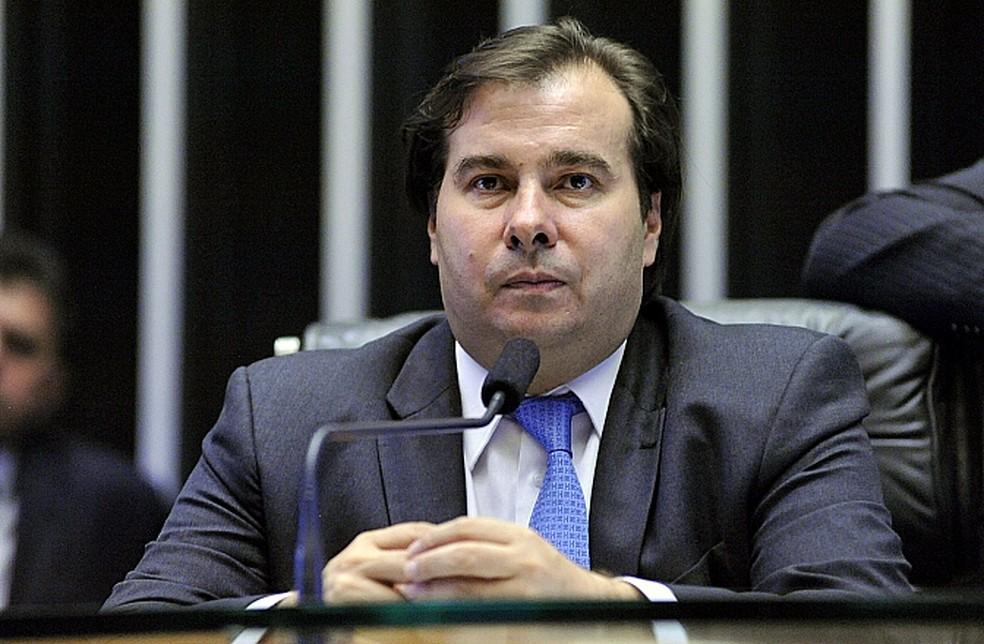 Imagem mostra o presidente da Câmara dos Deputados, Rodrigo Maia (DEM-RJ), durante sessão do plenário (Foto: Alex Ferreira/Câmara dos Deputados)