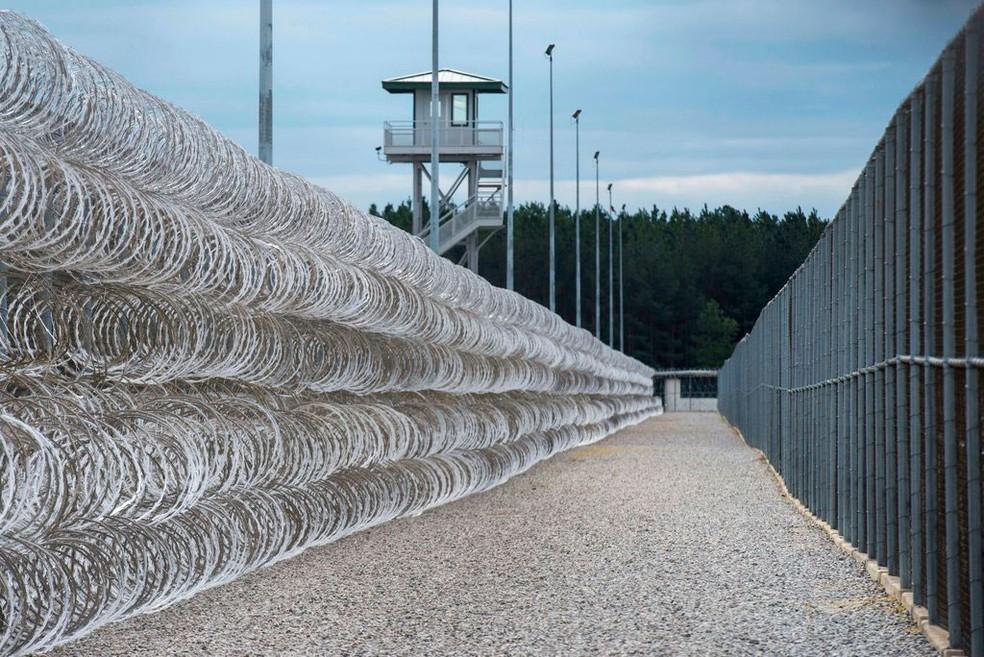 -  Imagem de arquivo mostra o Lee Correctional Institution, em Bishopville, na Carolina do Sul  EUA   Foto: Sean Rayford/AP