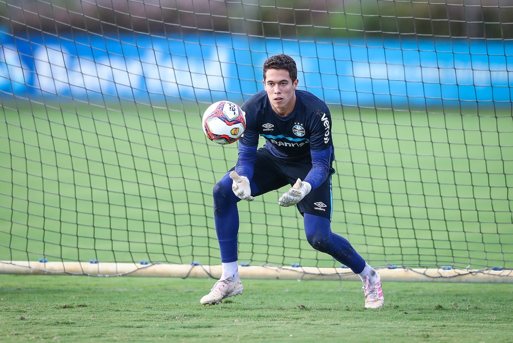 Brenno, goleiro do Grêmio — Foto: Lucas Uebel/Divulgação Grêmio