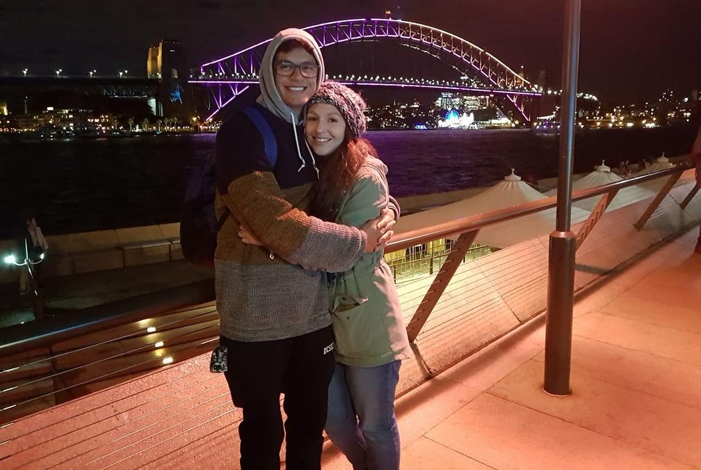 Ícaro Pronsate foi para a Austrália como estudante de línguas — Foto: Arquivo Pessoal/Ícaro Pronsate