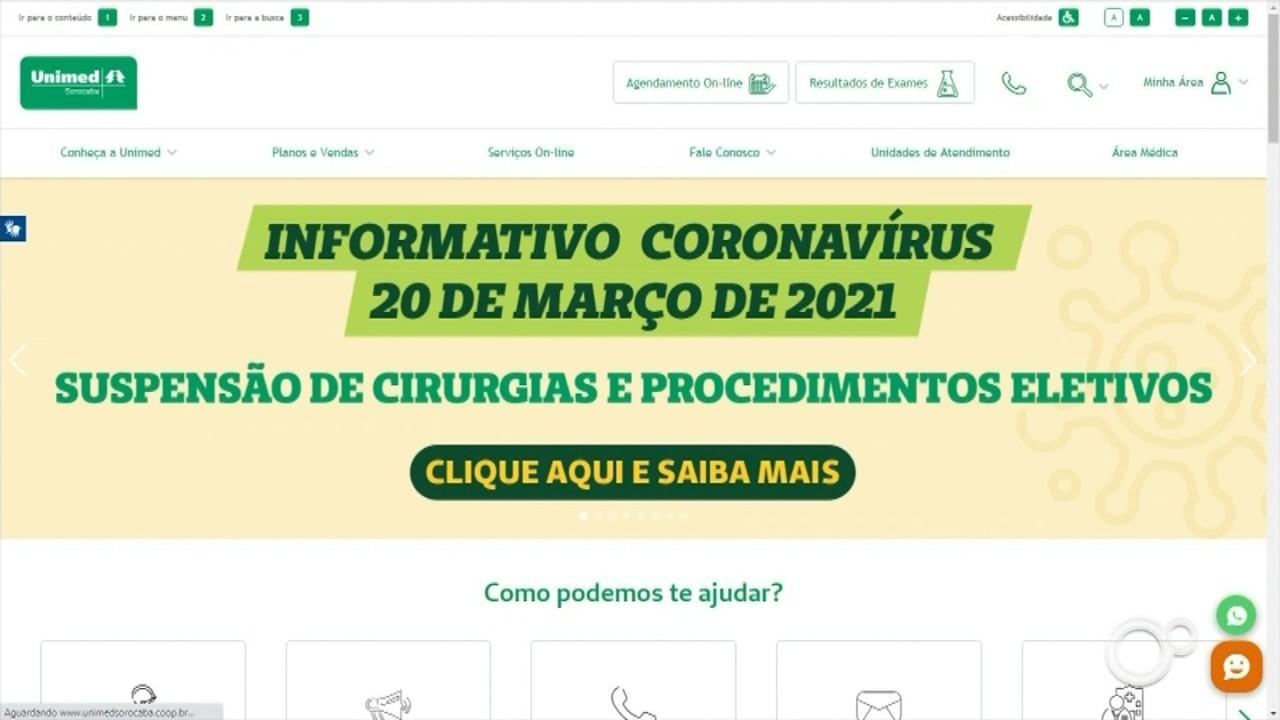 Unimed cancela exames e cirurgias eletivas em Sorocaba