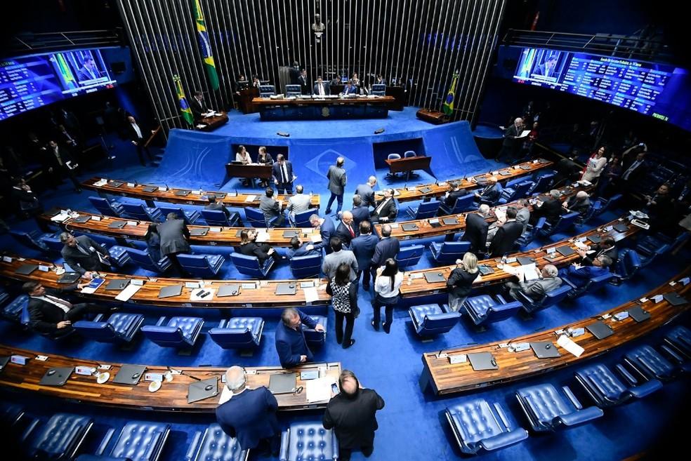 Após quase um mês de férias, senadores voltam ao trabalho nesta semana — Foto: Marcos Oliveira/Agência Senado