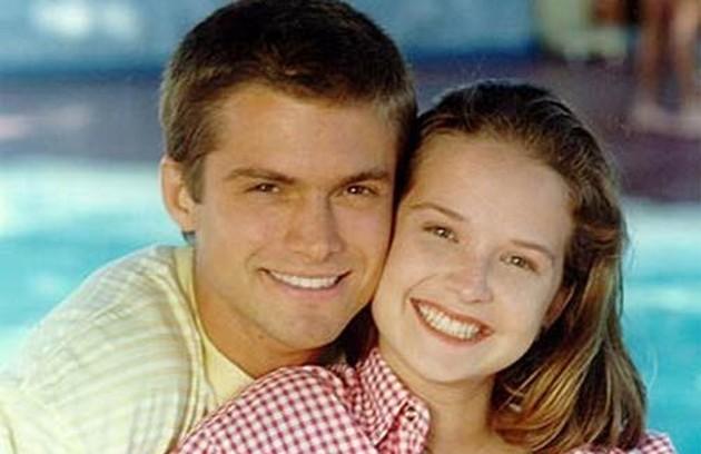 Claudio Heinrich (Dado) e Fernanda Rodrigues (Luiza), em 1995-1996 (Foto: Reprodução da internet)