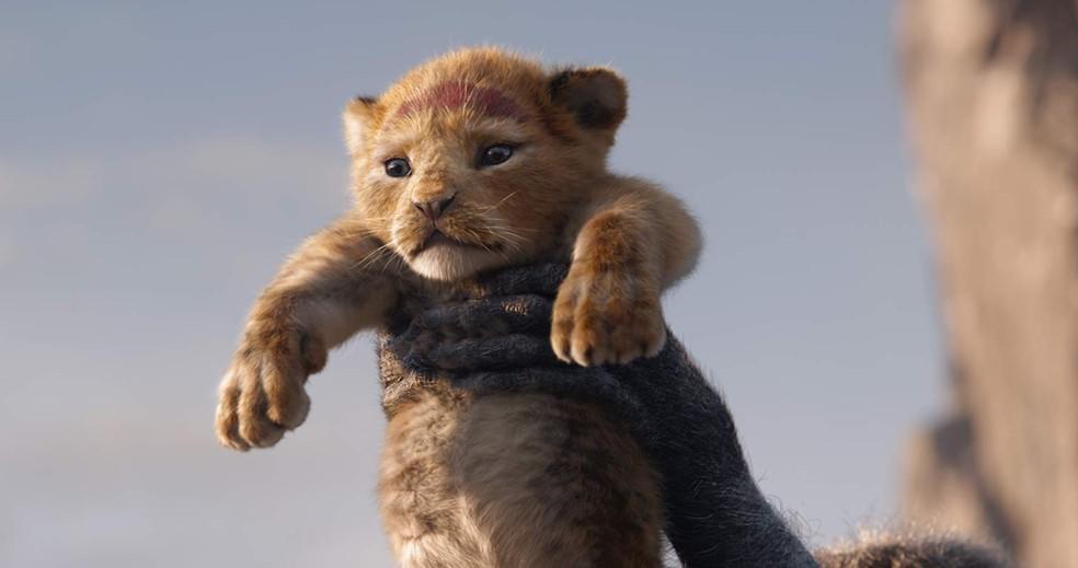 Simba ainda filhote em cena de 'O Rei Leão' — Foto: Divulgação