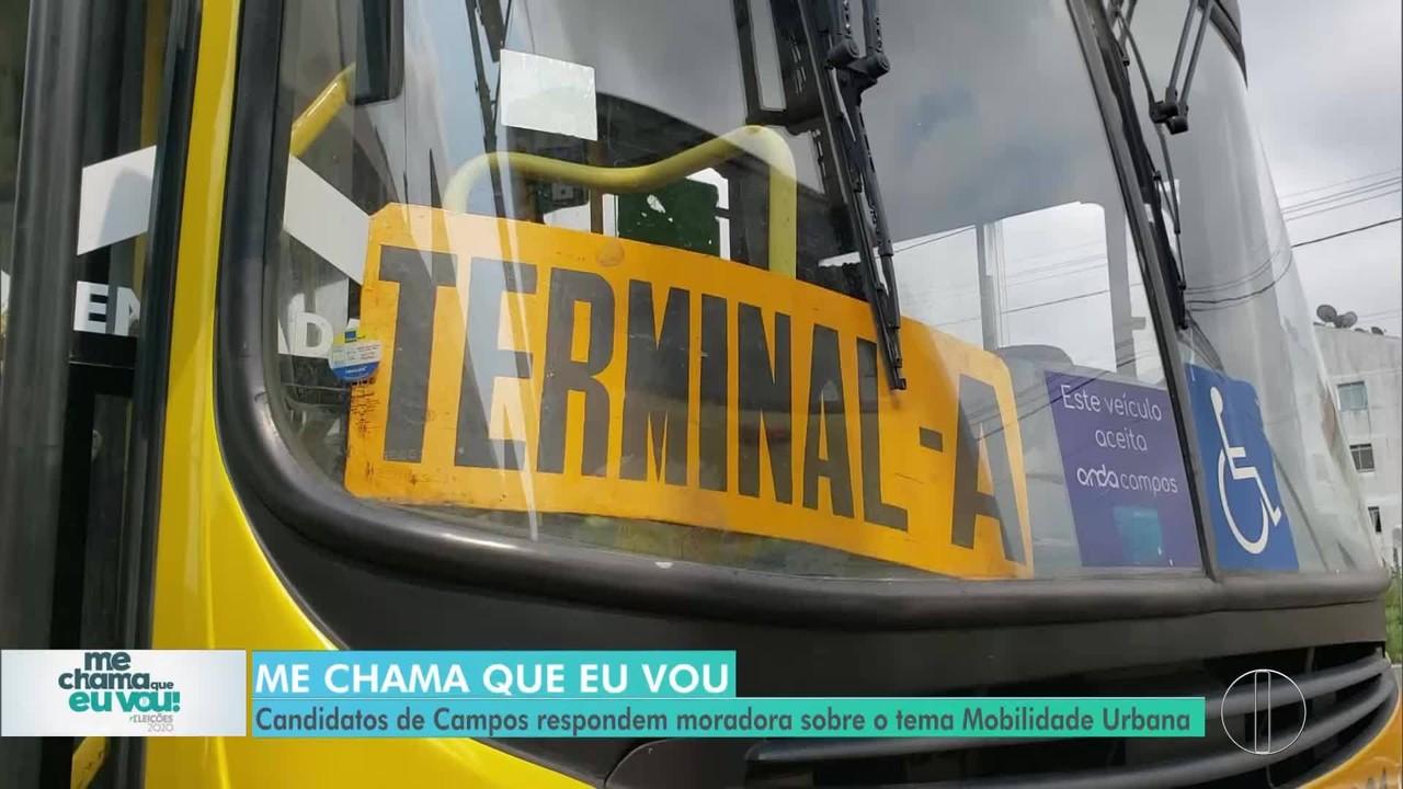 Mobilidade Urbana: candidatos de Campos respondem pergunta de morador sobre o tema