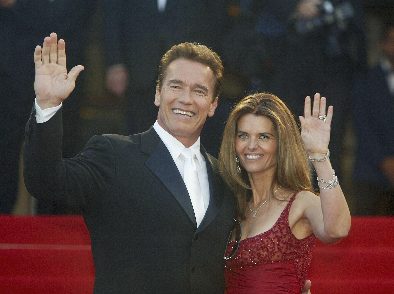 O ator Arnold Schwarzenegger com a ex, Maria Schriver (Foto: Getty Images)