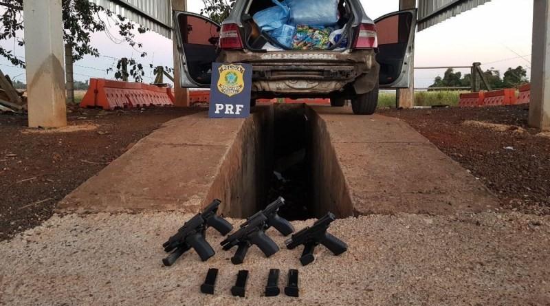 Duas mulheres são presas com cinco pistolas na BR-277, diz PRF - Notícias - Plantão Diário
