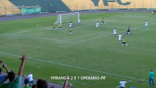 Ypiranga vira sobre Operário em Erechim e vence a primeira na Série C