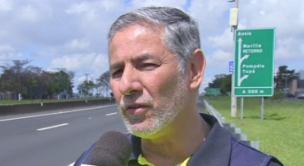 Funcionário da Entrevias, Cláudio Goes, morreu em Júlio Mesquita — Foto: TV TEM/Reprodução