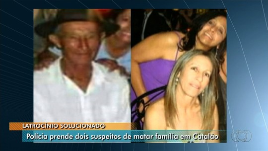 Dupla é presa suspeita de matar três idosos da mesma família a golpes de enxada em fazenda Catalão, GO