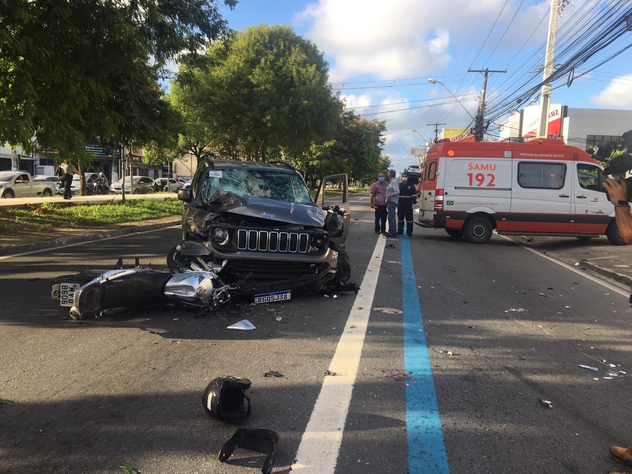 Morre mais uma vítima de acidente na Av. Fernandes Lima, em Maceió
