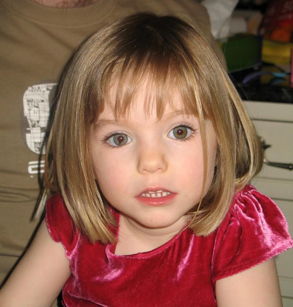 Madeleine McCann, britânica desaparecida aos 3 anos em 2007 em Portugal — Foto: HANDOUT / METROPOLITAN POLICE / AFP