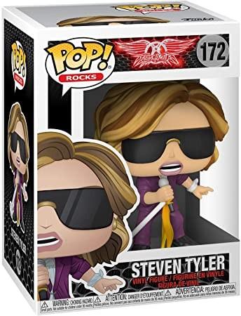 O Funko Pop de Steven Tyler tem uma roupa na cor roxa e microfone (Foto: Divulgação/Amazon)