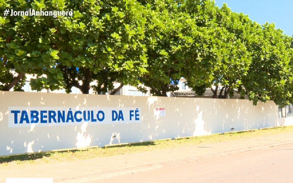 Igreja Tabernáculo da Fé em Goiânia, Goiás — Foto: Reprodução/TV Anhanguera