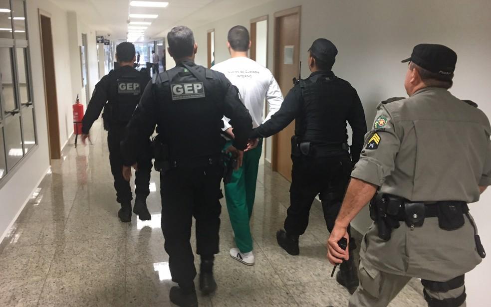 Serial killer Tiago Henrique Gomes da Rocha é julgado em Goiânia (Foto: Sílvio Túlio/G1)