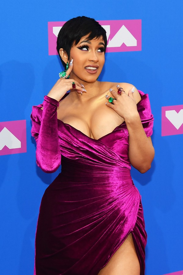 NEW YORK, NY - AUGUST 20:  Cardi B attends the 2018 MTV Video Music Awards at Radio City Music Hall on August 20, 2018 in New York City.  (Photo by Nicholas Hunt/Getty Images for MTV) (Foto: Getty Images for MTV)