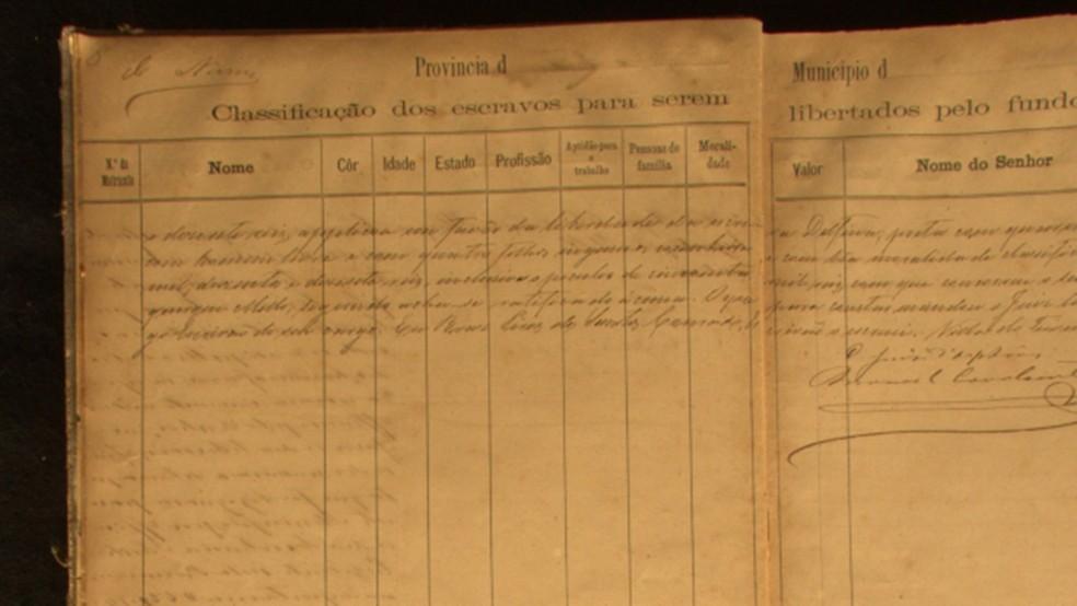 Registros de emancipação de escravos constam no acervo histórico do IHGP (Foto: Reprodução/diglib.library.vanderbilt.edu)