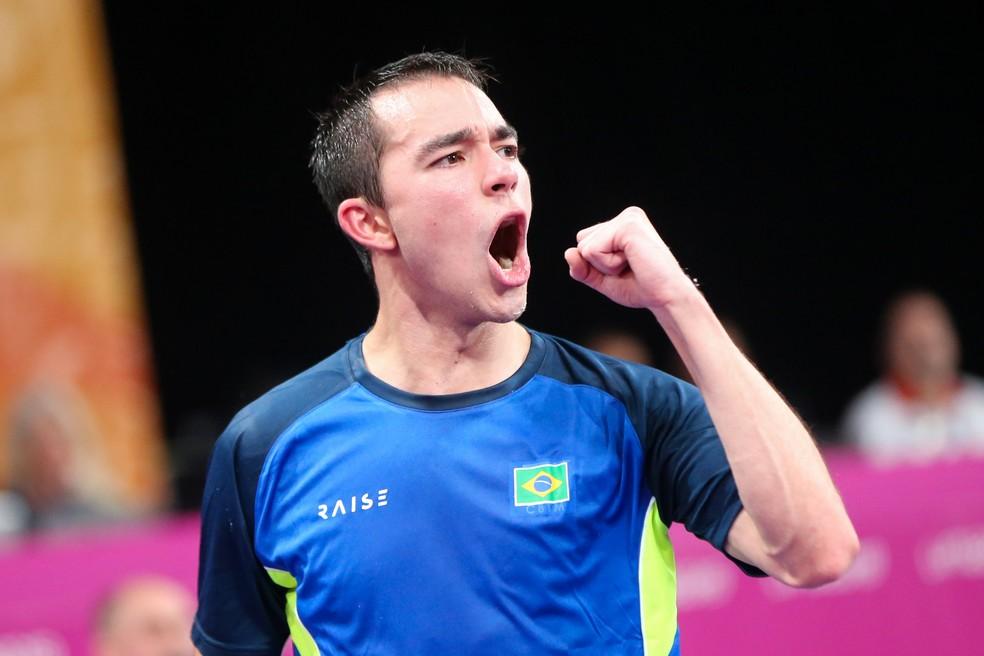 Hugo Calderano é ouro no tênis de mesa no Pan de Lima — Foto: Abelardo Mendes Jr/rededoesporte.gov.br