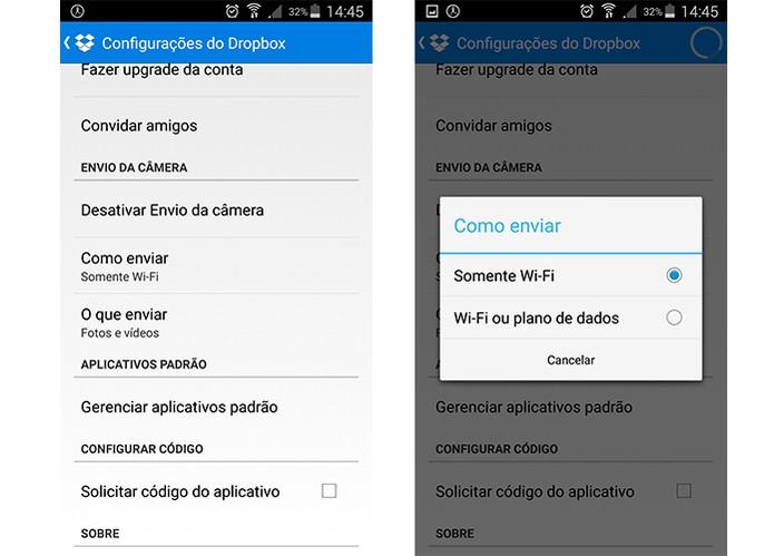 Dropbox tem espaço gratuito para sincronizar fotos e vídeos entre diferentes Androids (Foto: Reprodução/Barbara Mannara)