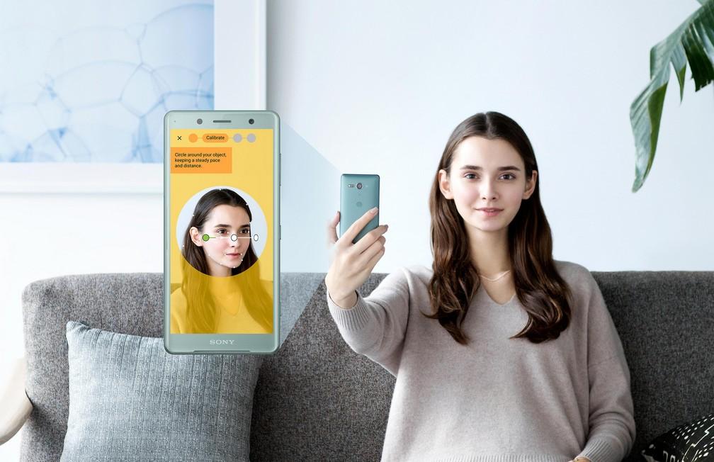 Reconhecimento facil do Xperia ZX2, novo smartphone da Sony. (Foto: Divulgação/Sony)