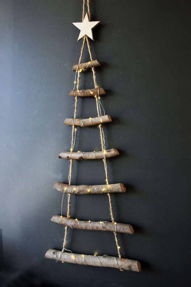 Image result for rope ladder christmas tree christmas Inspiration von kopenhagen weihnachten (Foto: Reprodução/Pinterest)
