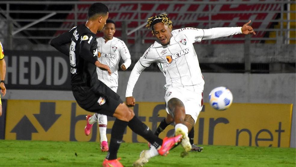 "Abel Hernández fez sete gols antes de ""perder o lugar na fila"" — Foto: Mailson Santana / Fluminense FC"