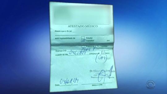 Médico é investigado por venda de atestados falsos em Santa Rosa
