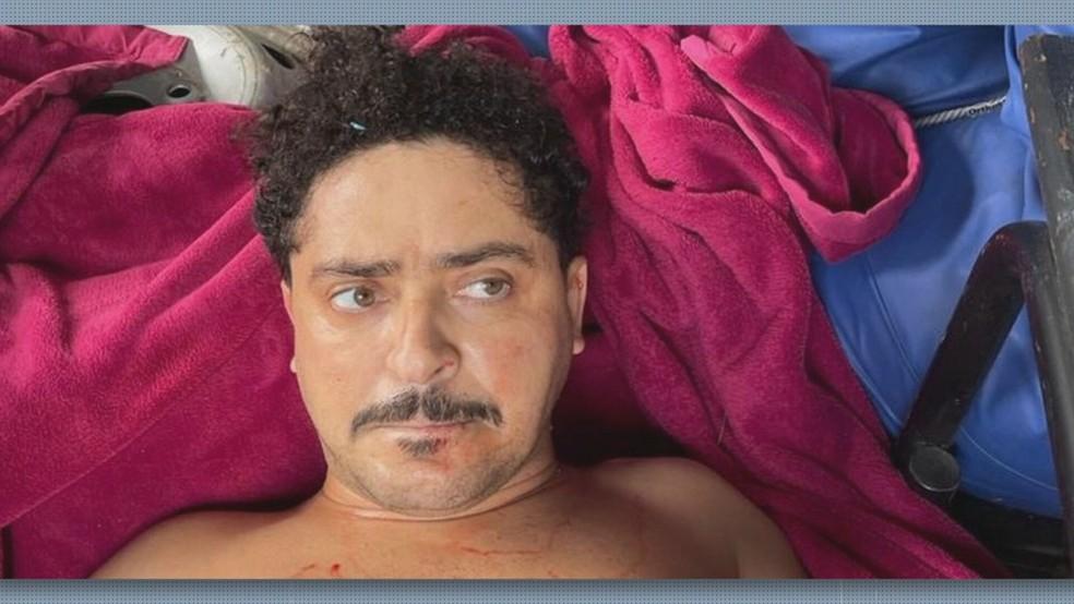 Ecko, em registro no dia de sua prisão e morte — Foto: Reprodução/TV Globo