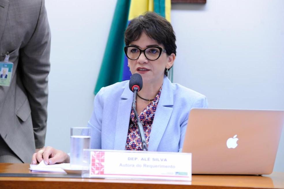 A deputada Alê Sila (PSL-MG) — Foto: Cleia Viana / Câmara dos Deputados