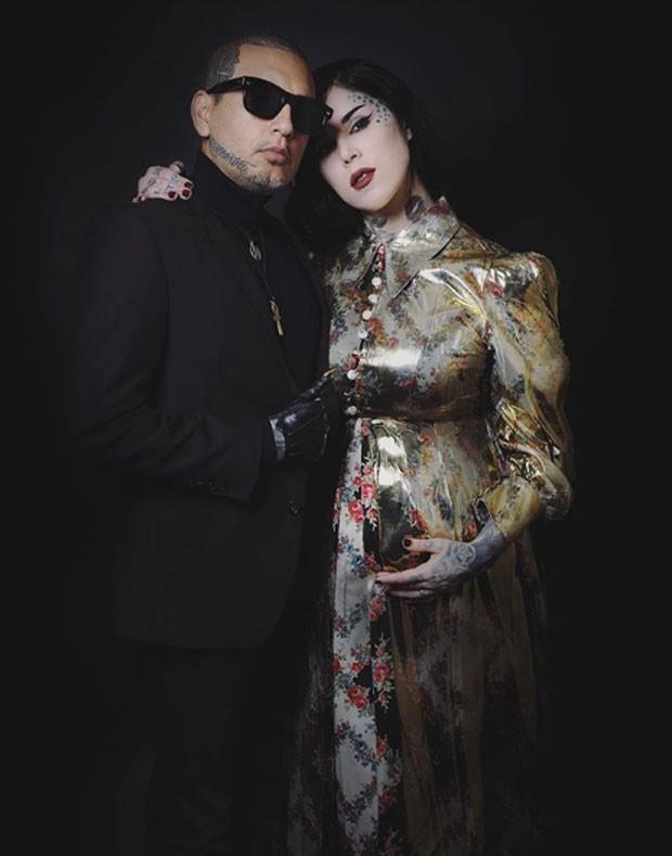 Leafar Seyer e Kat Von D  (Foto: Reprodução Instagram)