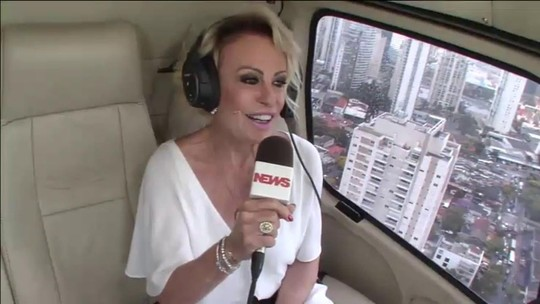 'Mais Você' 20 anos: Ana Maria Braga chora ao chegar de helicóptero para comemoração