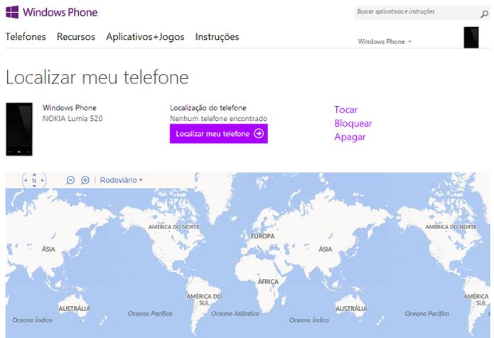 Ative o bloqueio no site do Windows Phone (Foto: Reprodução/Aline Jesus)