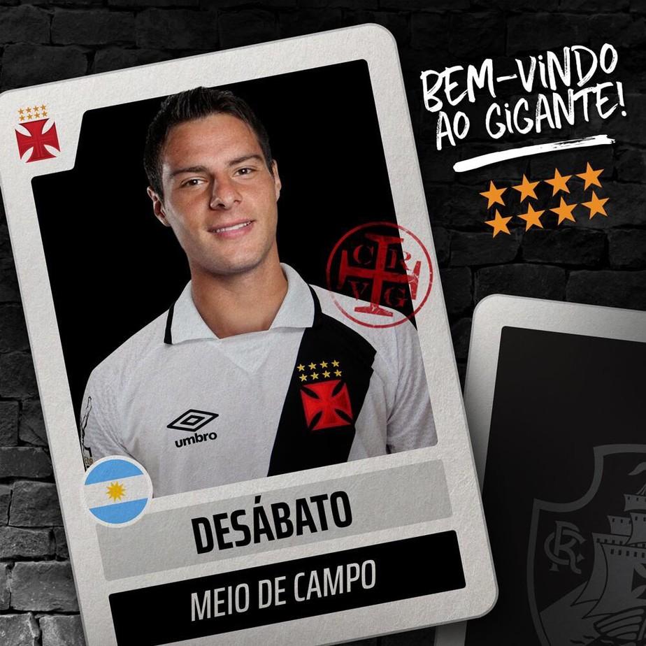 Vasco oficializa a contratação do argentino Leandro Desábato