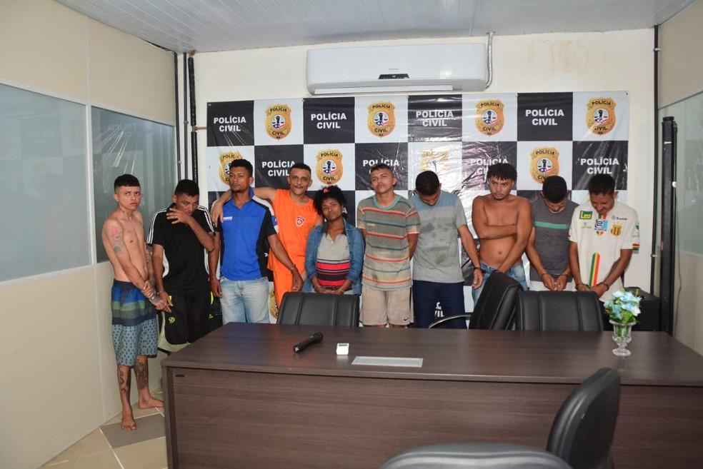 Polícia Civil do Maranhão realizou uma operação policial na quarta-feira (21) no bairro Cidade Olímpica e prendeu 10 pessoas — Foto: Divulgação/ Polícia