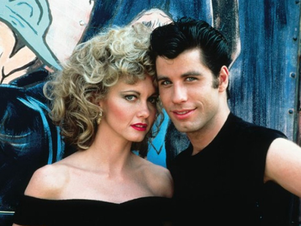 -  John Travolta e Olivia Newton-John em cena de   34;Grease: Nos tempos da brilhantina  34;, de 1978  Foto: Divulgação