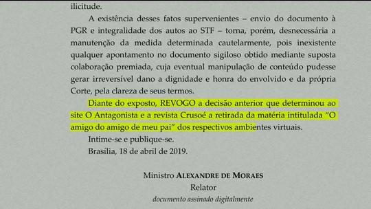 Alexandre de Moraes revoga decisão de censurar sites